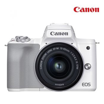 Canon กล้อง EOS M50  Mark II + EF-M15-45mm - White